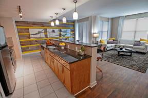 Model Kitchen and breakfast bar