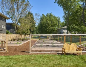 community pea patch for residents to plant vegetables and herbs