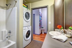 Full-Size Washer/Dryer at Canvas Apartments