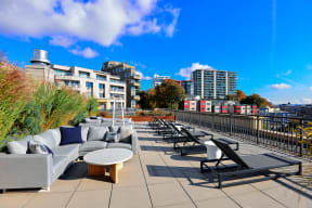 Rooftop Deck at Canvas Apartments in Seattle