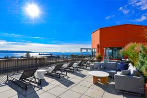 Rooftop Deck with Views of Elliott Bay