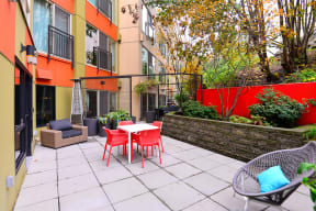 Outdoor Patio at Canvas Apartments in Seattle