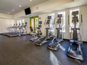 Apartments in Pomona CA - Expansive Fitness Center with Various Gym Equipment