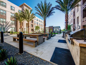 Pomona CA Apartments for Rent - Exterior View of Monterey Station's Building Showing Expansive Community