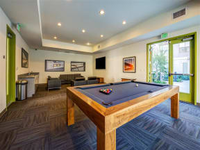 Pomona CA Apartments for Rent - Monterey Station's Community Pool Table