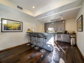 Pomona CA Apartments for Rent - View of Monterey Station's Beautiful Clubhouse Kitchen