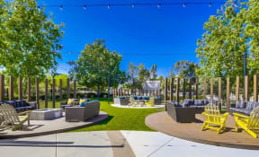 Temecula Apartments for Rent - Vista Promenade Modern Courtyard with Stylish Patio Furniture