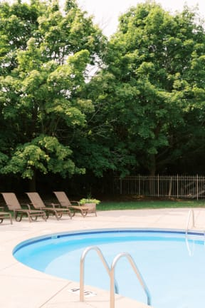 Pool With Sunning Deck at Deer Run Apartments, Wisconsin, 53223