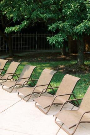 Poolside Relaxing Area at Deer Run Apartments, Wisconsin