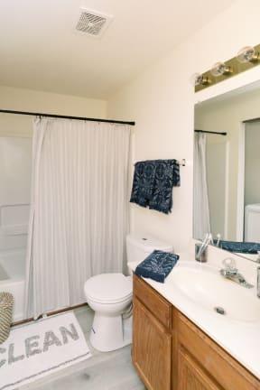 Luxurious Bathroom at Deer Run Apartments, Brown Deer
