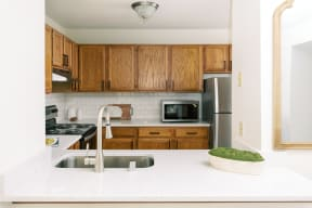 Stainless Steel Sink With Faucet at Deer Run Apartments, Wisconsin, 53223