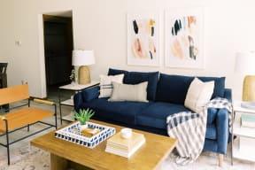 Modern Living Room at Deer Run Apartments, Brown Deer