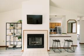 Living Room Interior at Deer Run Apartments, Brown Deer, Wisconsin