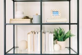 Living Room Shelf at Deer Run Apartments, Brown Deer, WI