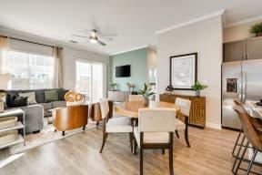 Modern Living Area at Avilla Oakridge, Texas, 75126
