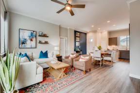 Modern Living Room at Avilla Heritage, Texas, 75052