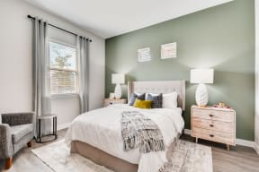 Beautiful Bright Bedroom With Wide Windows at Avilla Heritage, Texas, 75052