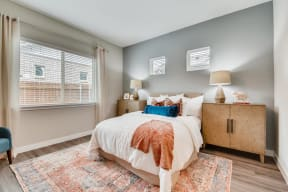 Bedroom With Expansive Windows at Avilla Heritage, Grand Prairie, 75052