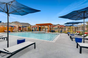 Outdoor Swimming Pool with Large Sundeck and Wi-Fi  at Avilla Heritage, Grand Prairie, 75052