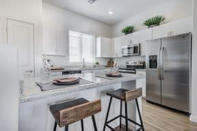 Gourmet Kitchen With Island at Avilla Gateway, Phoenix, Arizona