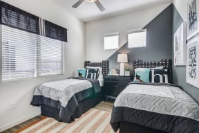 Bedroom With Expansive Windows at Avilla Gateway, Arizona, 85037