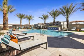 Swimming Pool With Relaxing Sundecks at Avilla Gateway, Phoenix, AZ