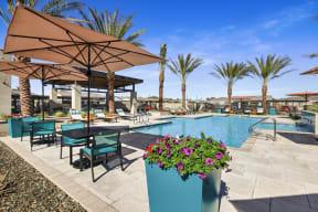 Poolside Lounge Area at Avilla Gateway, Arizona, 85037