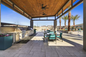 Outdoor Grill With Intimate Seating Area at Avilla Gateway, Arizona