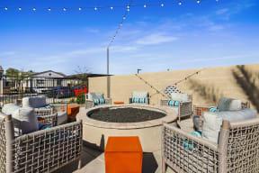 Outdoor Fireplace Lounge at Avilla Gateway, Phoenix