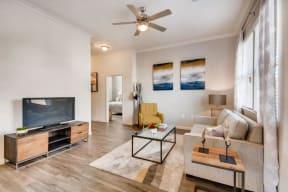 Living Room With Television at Avilla Northside, McKinney, TX