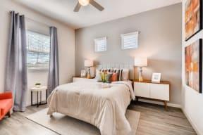 Bedroom With Expansive Windows at Avilla Northside, McKinney, Texas