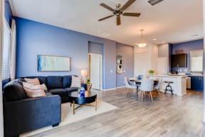 Wood Floor Living Room at Avilla Deer Valley, Phoenix, 85085