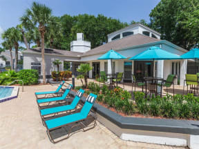 Granite at Porpoise Bay Apartments Daytona Beach pool chairs