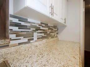 granite at porpoise bay apartments daytona model unit kitchen back splash