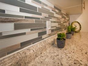 granite at porpoise bay apartments daytona model unit kitchen backsplash