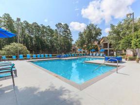 apartment community pool deck