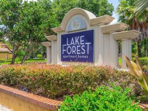 lake forest apartments daytona community entrance signage