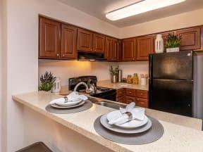 lake forest apartments daytona lily renovated kitchen