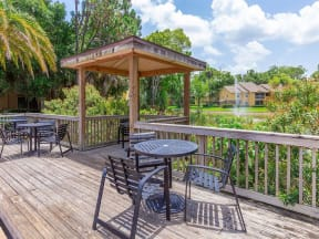 lake forest apartments daytona pool seating & tables