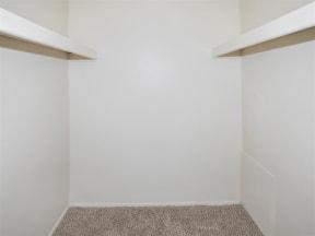 large closet space at granite at olsen park