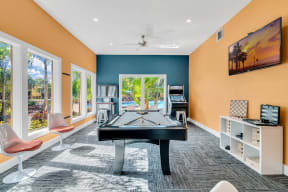 renovated amenity space game room arcade clubhouse orlando