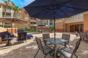 Shamrock of Sunrise apartments pool deck