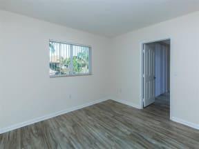 updated unit bedroom flooring