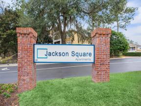 tallahassee apartment community sign jackson square