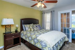 floorplan 1B model unit bedroom