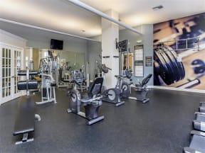 fitness center strength training equipment