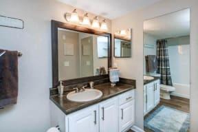 floorplan 1B model unit bathroom sink