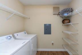 floorplan 1B model unit laundry room