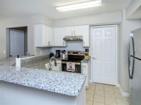 floorplan 2C model unit kitchen