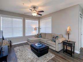 floorplan 2C model unit living room